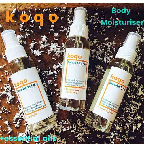 koqo face.body.hair Trio Set (3 x 100ml) + Free Jute Bag
