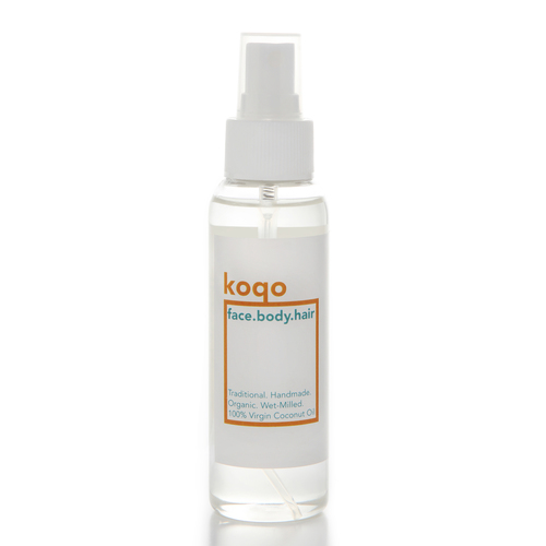 koqo face.body.hair Handmade & Wet-milled 100% Virgin Coconut Oil (100ml Spray)