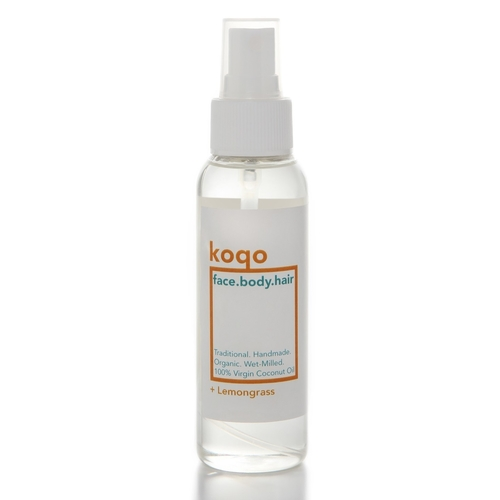 koqo face.body.hair Handmade & Wet-Milled Coconut Oil + Lemongrass 100ml Spray