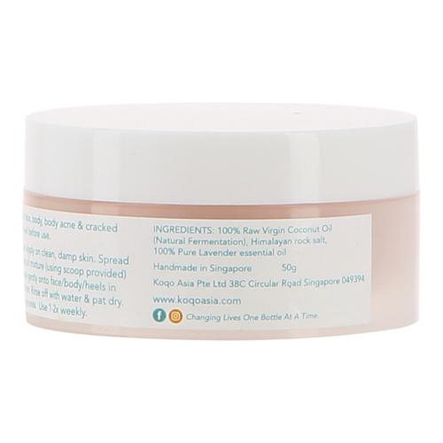 koqo Lavender & Himalayan Salt Scrub 50g