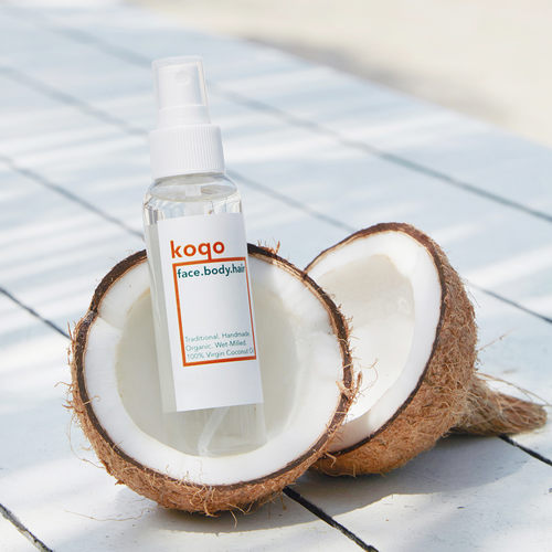 koqo face.body.hair Handmade & Wet-milled Coconut Oil 100ml Pump