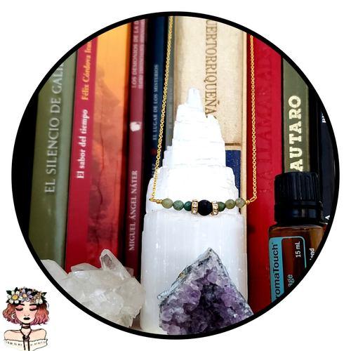 Agate aromatherapy lava diffuser necklace