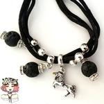 Aromatherapy lava diffuser unicorn bracelet