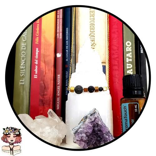 Hematite aromatherapy lava diffuser necklace