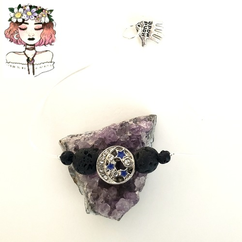 Aromatherapy lava diffuser elastic moon bracelet