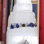 Lapis lazuli aromatherapy lava diffuser necklace