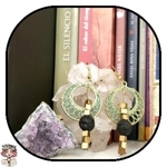 Hematite aromatherapy lava diffuser earrings