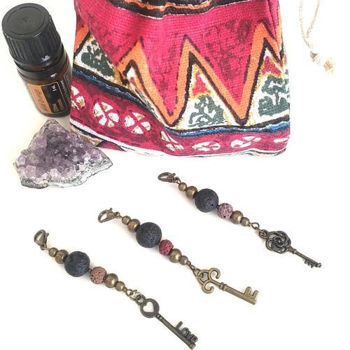 Aromatherapy lava diffuser key trio