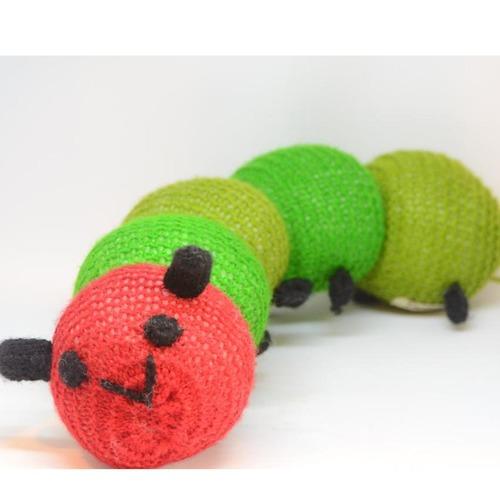 Hand Knitted Caterpillar