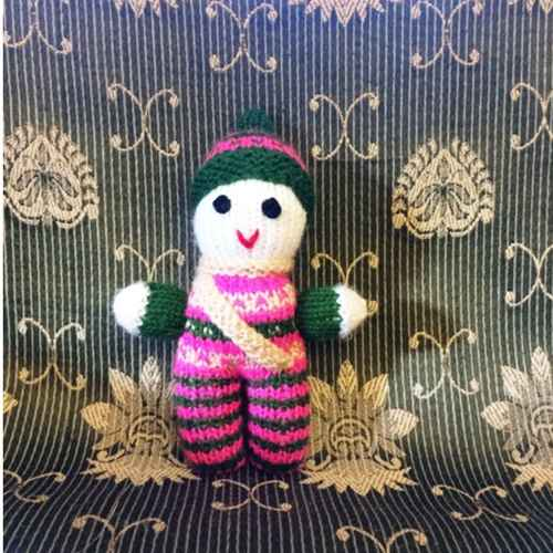 Hand knitted Pappy Doll