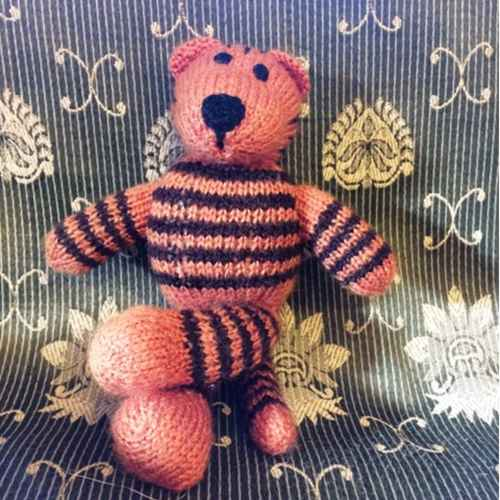 Hand knitted Tiger