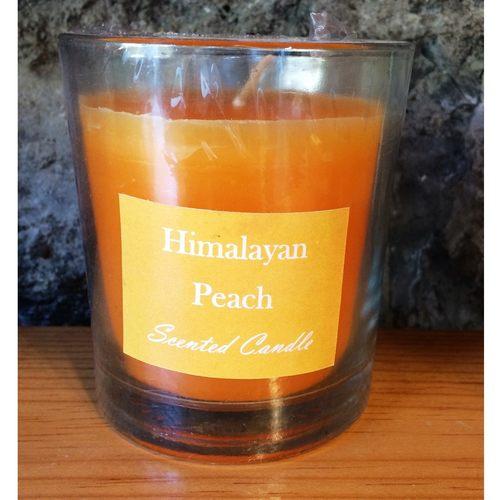 Himalayan Peach Glass Candle