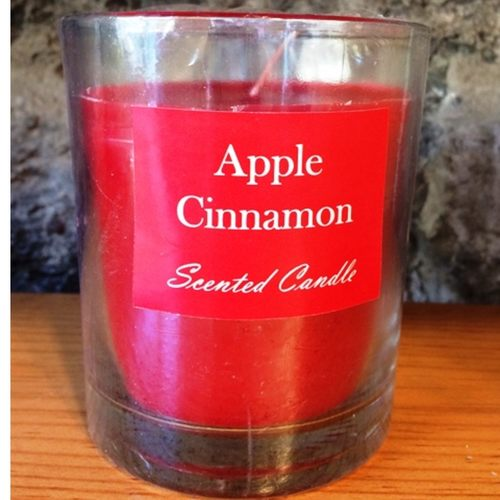 Apple Cinnamon Glass Candle