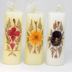 Natural Flower Candles