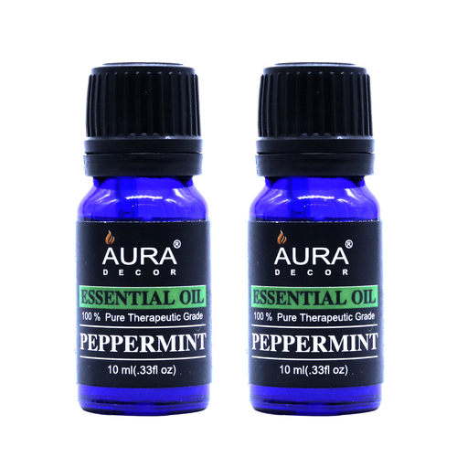 AuraDecor 100% Pure Peppermint Essential  Oil ( 10ml Each )