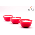 AuraDecor Red Cup Votive Candle Pack of 20 ( Burning Time 24 hours )