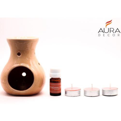 AuraDecor Mandarin Aroma Diffuser Gift Set