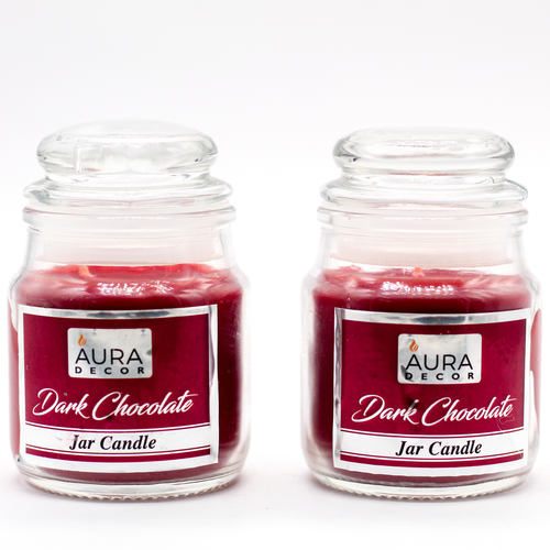 AuraDecor Gift Set of 2 Cookie Jar Candles ( Dark Chocolate )