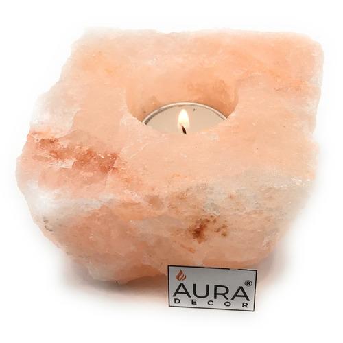 AuraDecor Salt Lamp with a Tealight