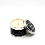 AuraDecor Wood Wick Tin Candle ( Vanilla Caramel )