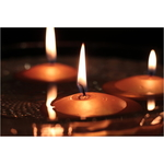 AuraDecor Pack of 4 Gold Nugget Floating Candle