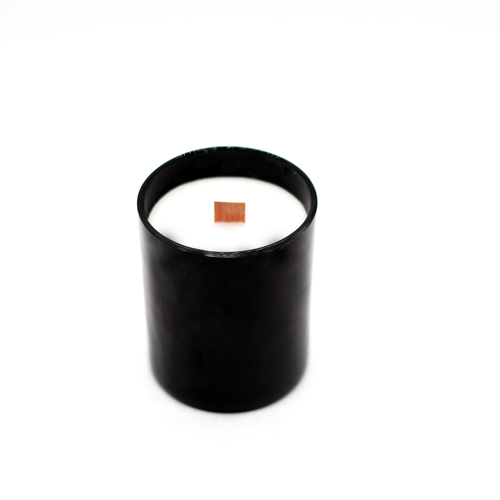 AuraDecor Wood Wick Black Glass Candle ( Christmas Special )