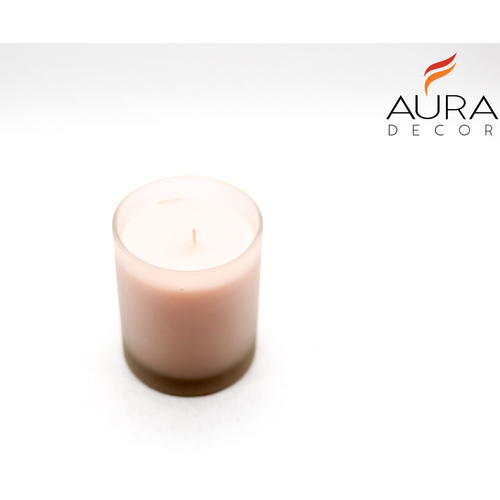 AuraDecor Frosted Glass Candle Fragrance Candle
