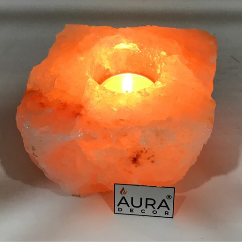 AuraDecor Salt Lamp with a Tealight