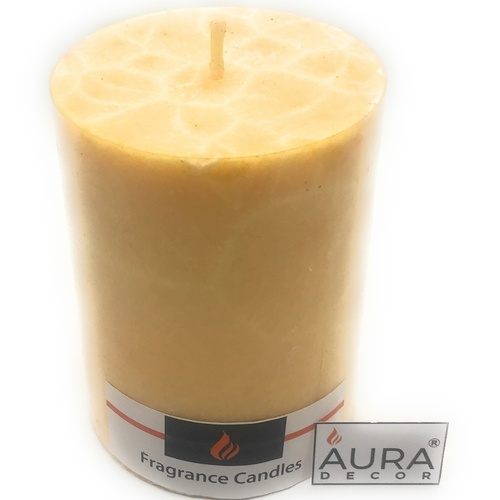 AuraDecor Vanilla Fragrance 3*4 Pillar Candle