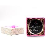 AuraDecor Wood Wick English Rose Tin Candle