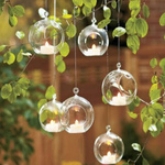 AuraDecor Set of 6 Crystal Hanging Tealight Holder ( 3 Inch )