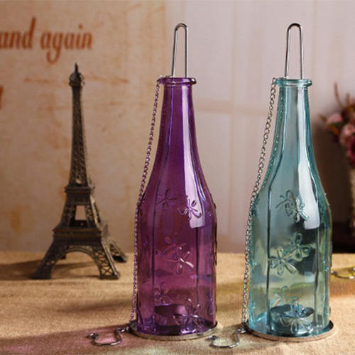 AuraDecorSet of 2 Bottle Shape Tealight Holder