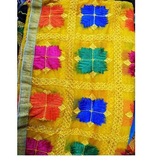 Yellow Phulkari Dupatta