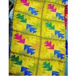 Yellow Chiffon Phulkari Dupatta