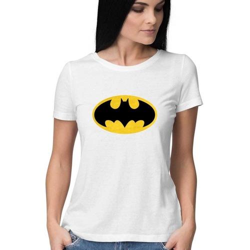 Women Batman Round Neck Tshirt