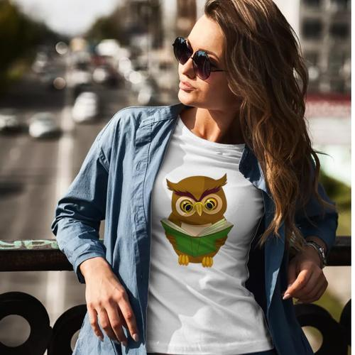 Reading Owl Round Neck Top