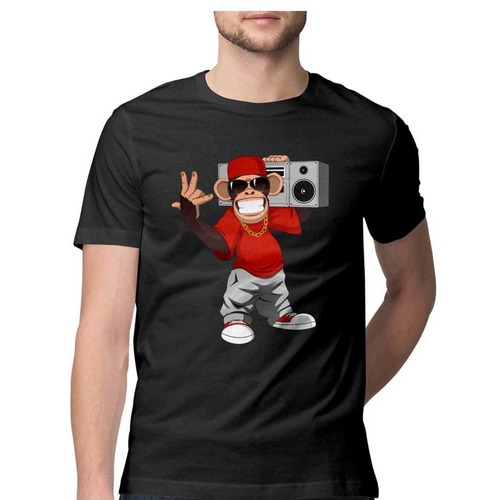 Musical Monkey Round Neck Tshirt