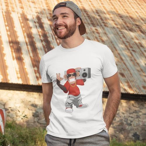 Musical Monkey Round Neck Tshirt