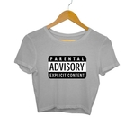 Explicit Content Crop Top
