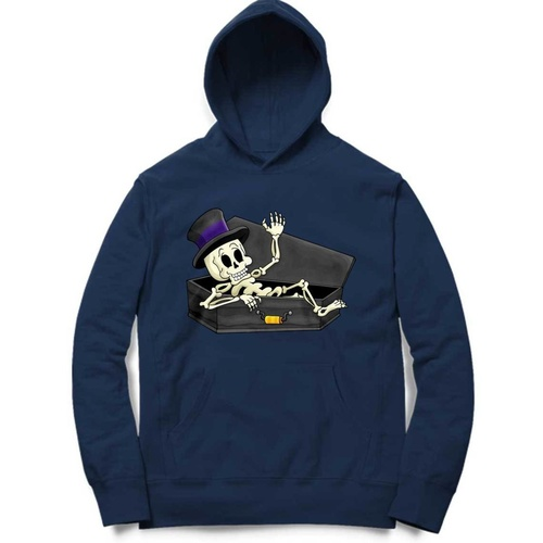 Skeleton In Coffin Hoodie