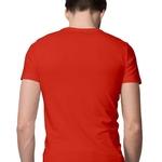 Mens Beard Print Round Neck Tshirt