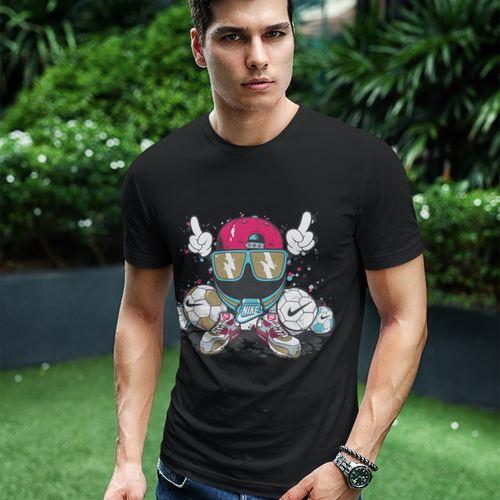 Mens Nike Printed Round Neck Tshirt