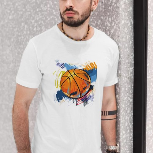 Mens Basketball Print Tshirt