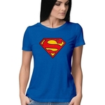 Women Superman Round Neck Tshirt