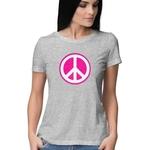 Peace Symbol Round Neck Tshirt