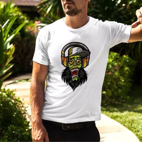 Graffiti Skull Round Neck Tshirt
