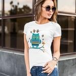 Owl Print Round Neck Top