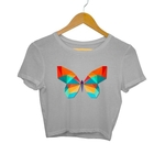 Digital Butterfly Crop Top