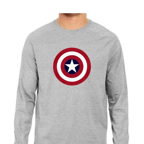 Captain America Full Sleeves Tshirt