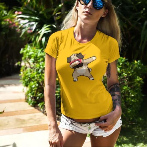 Pug Dab Round Neck Tshirt